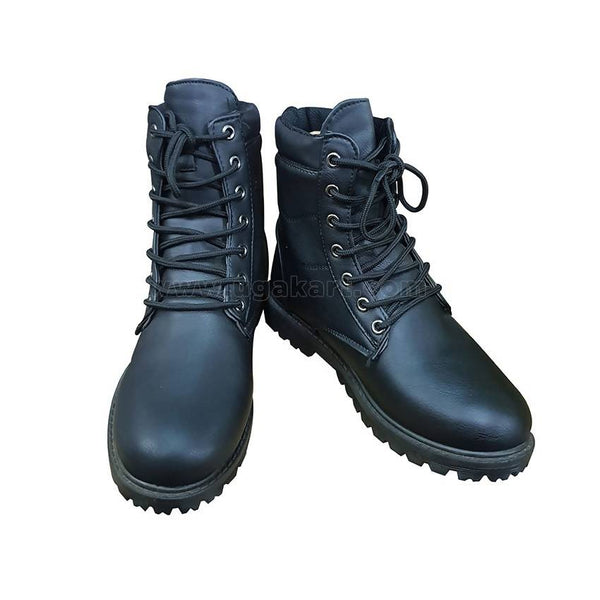 Mens Lace Up Boots - Black