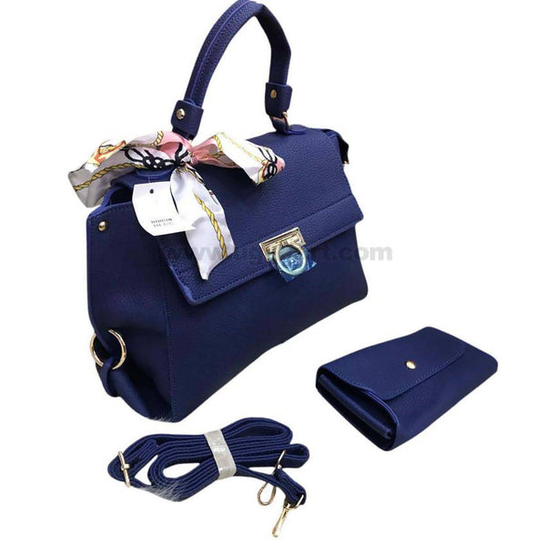 Dark Blue Hand Bag 2PCS