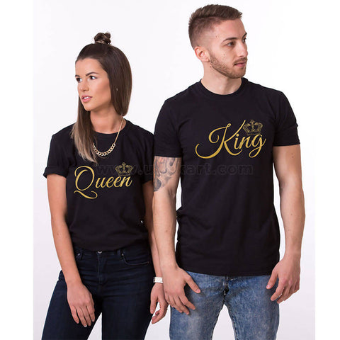 Couple T-Shirts King And Queen