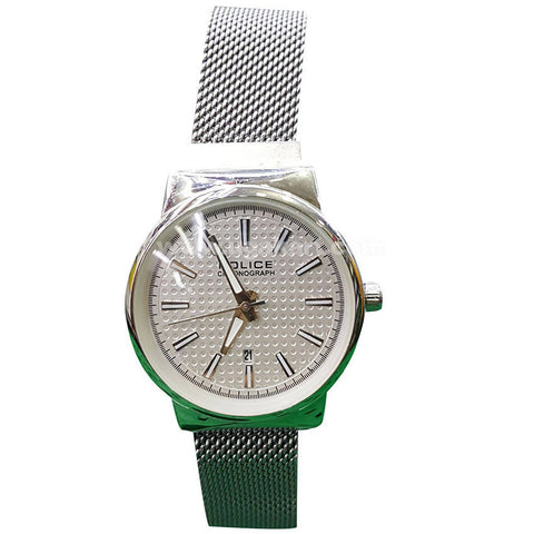 POLICE Silver Mesh Band Women's Watch
