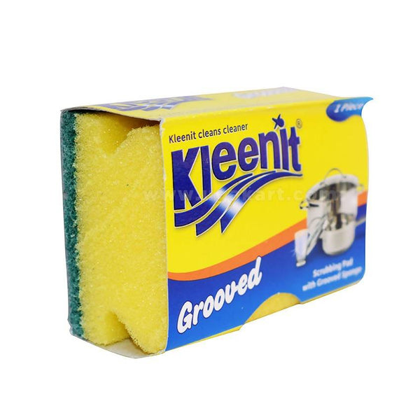 Kleenit Scrubbing Pad With Grooved Sponge 1 Piece