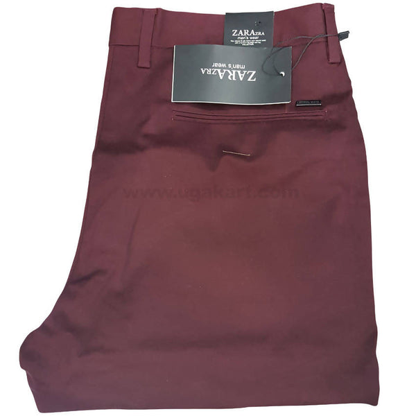 Claret Color Trouser For Men