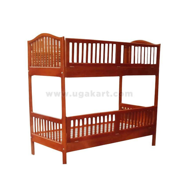 Mission Style Double Decker Wooden Bed-Size 4/6