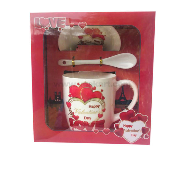 MUG WITH SPOON & SAUCER WITH LOVE