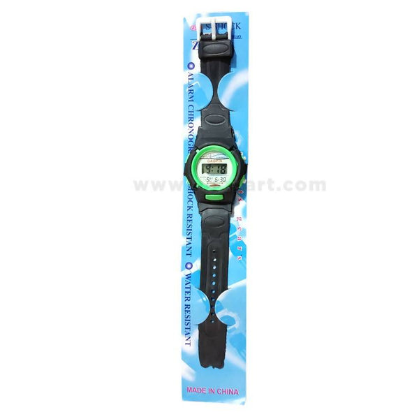 Gaopin Black And Green Kids Watch