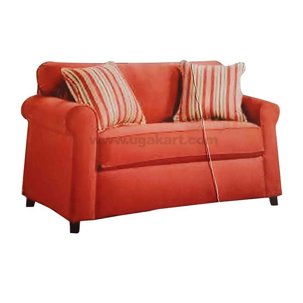 6 Seaters Large Red Sofa High Density With fibre Pillows Cushions (Seaters 3-2-1)