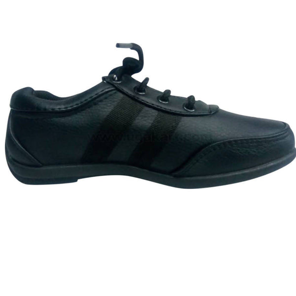 Black With Laces Shoes For Kids