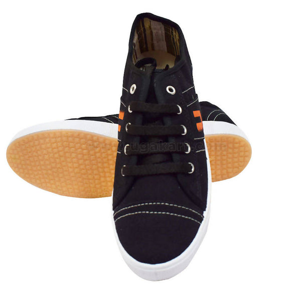 Uni Dark Blue and Orange Canvas Shoes