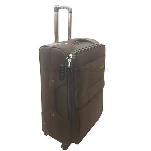Coffee Brown Travel Spinner Suitcase (Medium Size)
