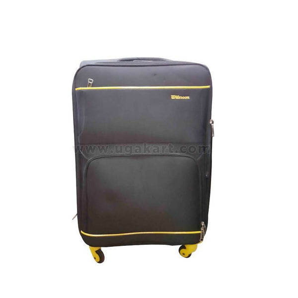 Wilssoon Black & Yellow Travel Suit Case (Trolly Bag) (Medium Size)