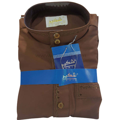 Pathani Suits Kids_Coffee Brown