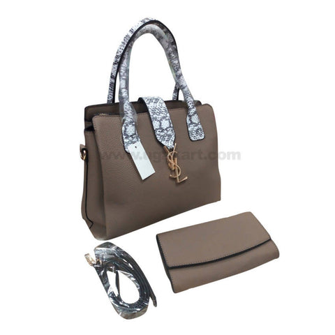 YSL Set of Two Brown Women'S Hand Bag
