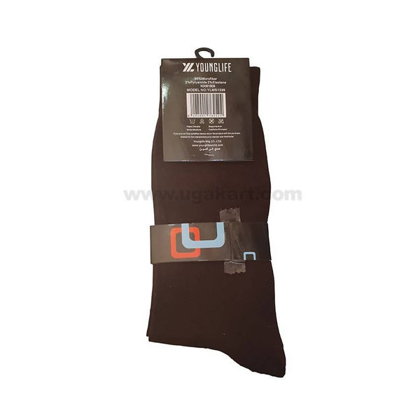 Younglife Men Socks_Brown