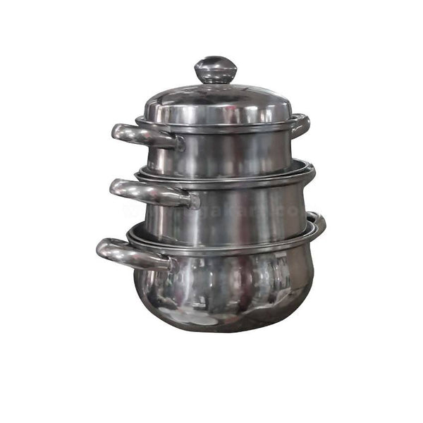 Stainless Steel Pot Set Of 3 S,M,L