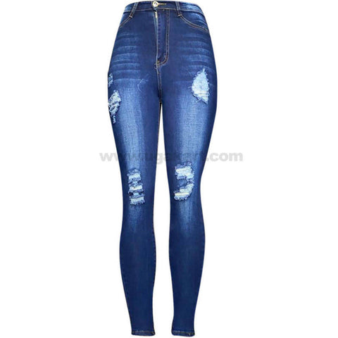Blue Faded High Waisted Women's Disaster Jeans