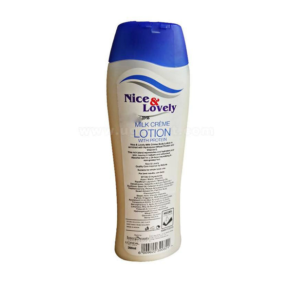 Nice & Lovely Milk Crème Lotion With Protein 200ml