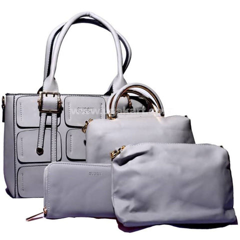 Susen 4Pcs Hand Bag Grey