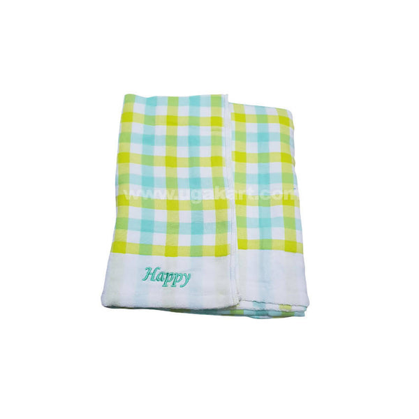 Yellow And Green Strips Towel