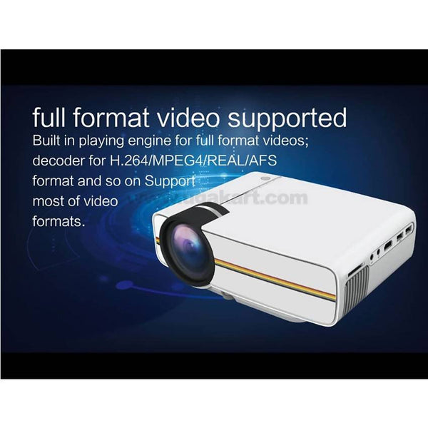 MA400 LCD Technology Support 1080P 150'' Portable Mini Projector - White
