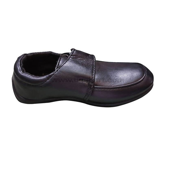 Flat Black leather shoe for Boys