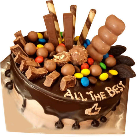 Chocolates Overload Cake (Eggless)