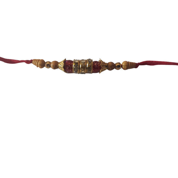 Golden and Red Rakhi 1Pc