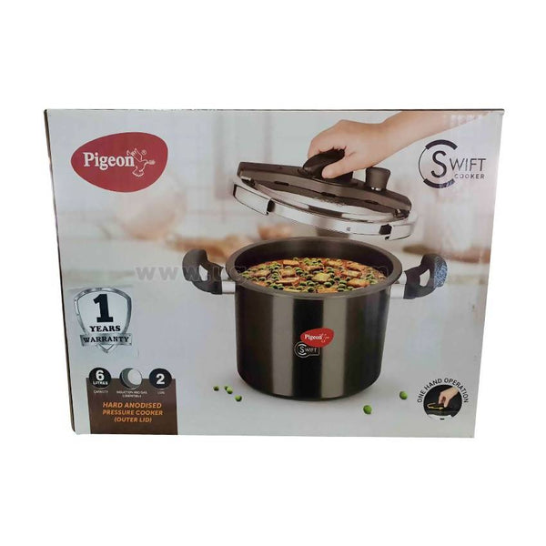 Pigeon Swift Cooker-6Ltr/2Lids