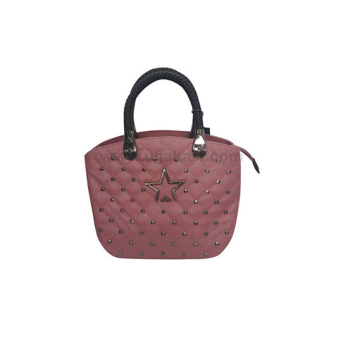 Homme Femme Pink Faux Leather HandBag For Women's