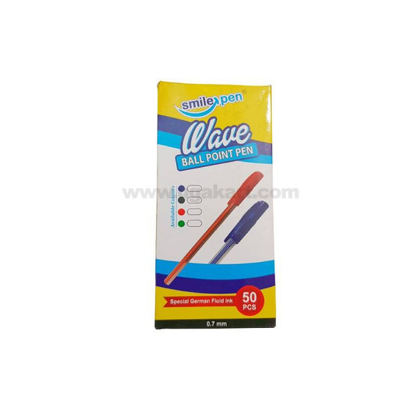 Smile Pen Wave Ball Point Pen 0.7mm 50pcs Blue