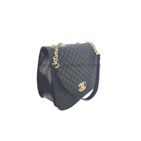 CG Black Hand Bag For Women's