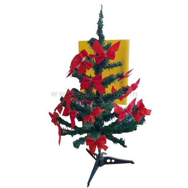 Christmas Tree With Red Ribbon - Size 54 cm Length