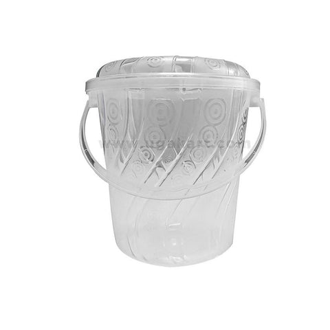 Transparent - Round Plastic Bucket