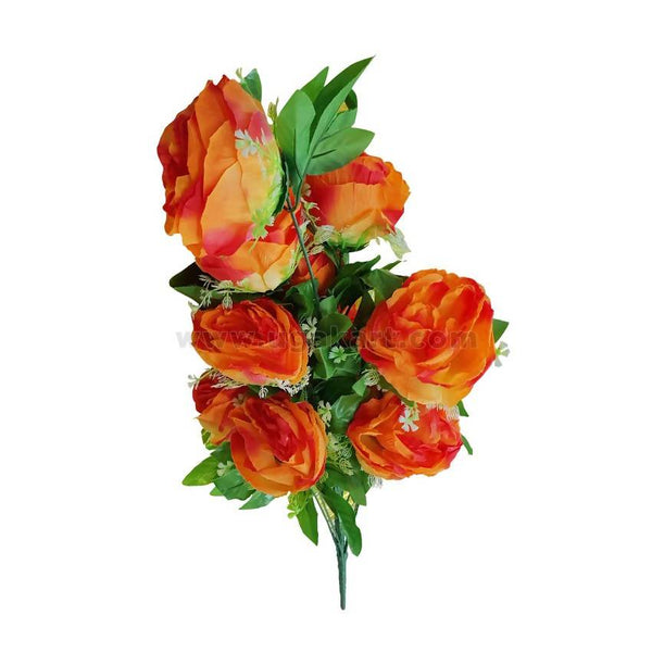 Decoration Plastic Flower-Orange-33cm Length