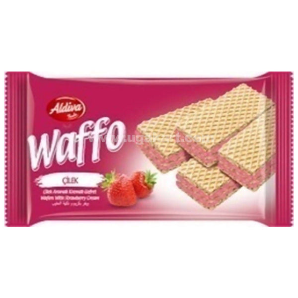 Waffo Wafer With Strawbery Cream 50GM