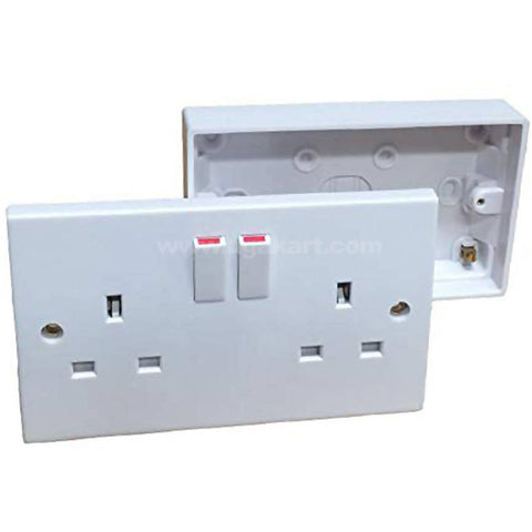 2 Plug Socket 1 Pc + Wall Mount