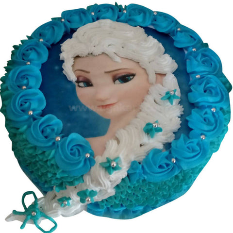 Picture Cake blue (Without Egg)