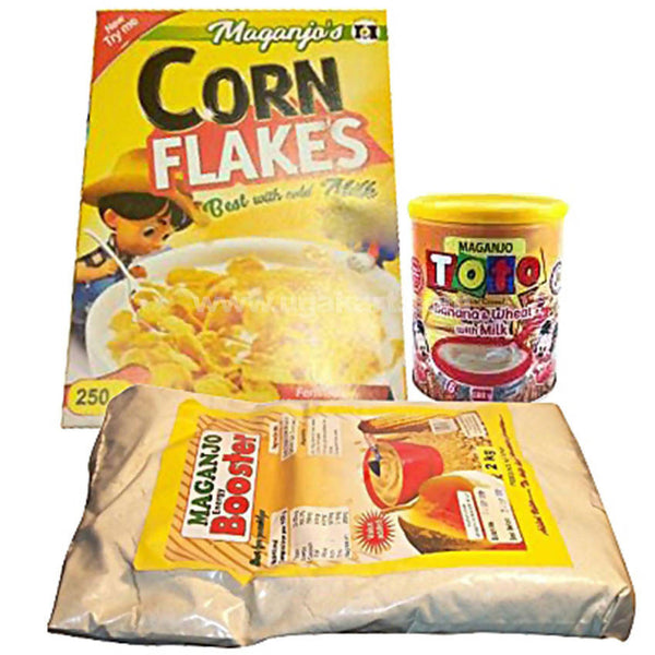 Special Combo Pack Of Maganjo Toto Infant Cereal Banana 500g,Cornflakes 250g,Booster 1Kg