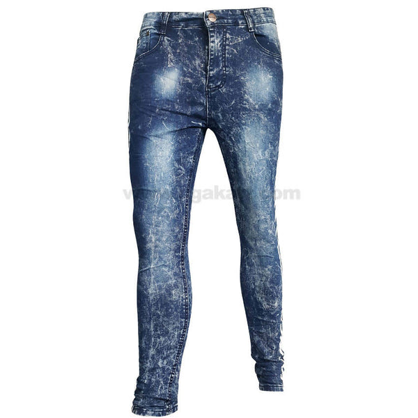 Blue Snow Splash Ink Fashion Classic Design Jeans For Mens