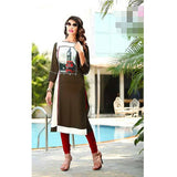 Top Kurti Soft Reyon Material With Red Legging- XXL (Bust Size - 42)
