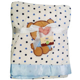 iBaby White With Blue Design Blanket