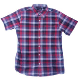 Red White Check Half Sleeve Shirt For Men