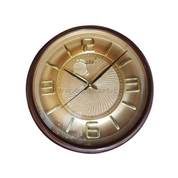 Sonam Round Shaped Dark Brown Wall Clock