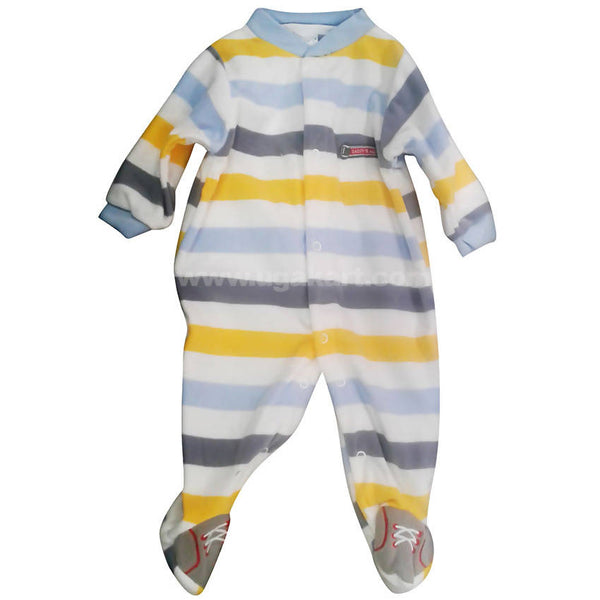 Striped Long Sleeve Baby Romper