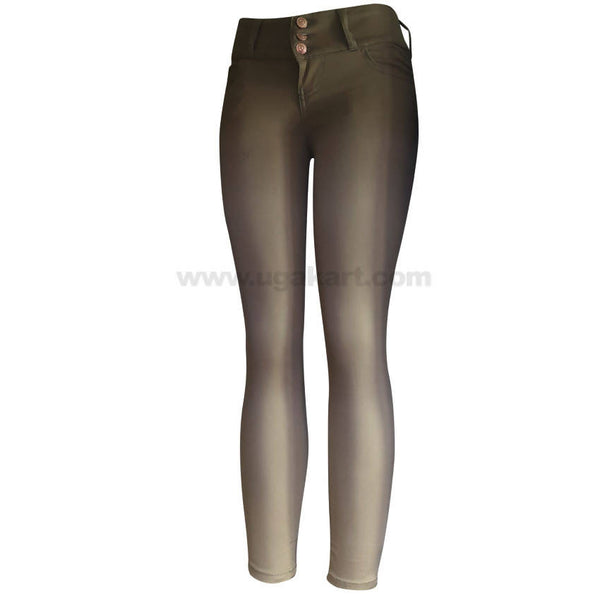 Women's Light Green Skinny Pant