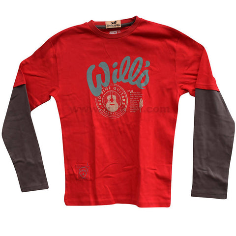 Kids Red and Grey T Shirt_10years