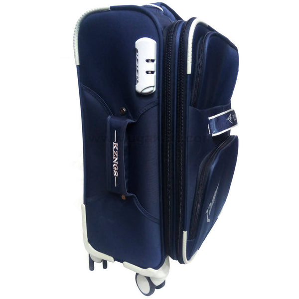 Kzngs Navy Blue 5 Wheels Suit Case (Trolly Bag)