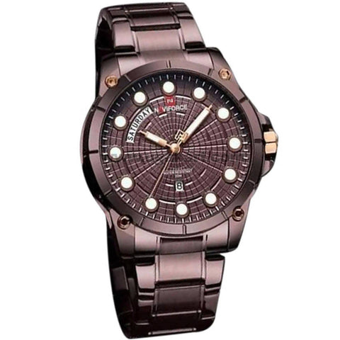 Naviforce Brown Dial Steel Analog Women's Watch