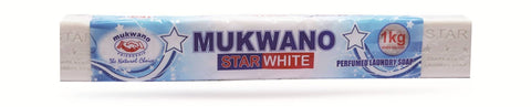 MUKWANO STAR WHITE LB SOAP 1KG - WHITE