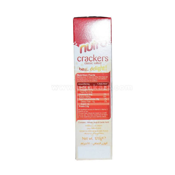 Nutro Crackers Classic Salted Bite..Delight! 170g