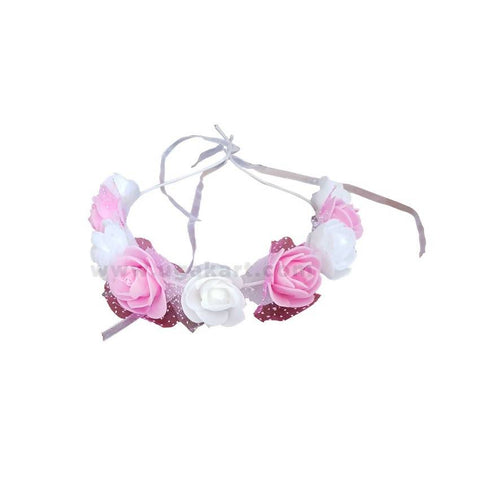Pink And White Big Rose Ribbon-Shower Clip